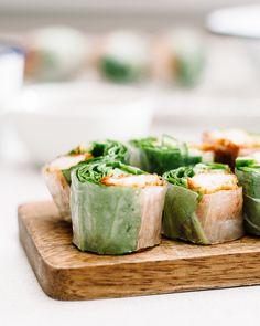 Tonkatsu salad roll recipe @iamafoodblog