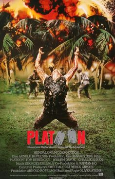 Platoon (1986) Original German A1 Movie Poster