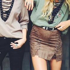Suede Lace Up Mini Skirt Medium  NWT. oobbsseesseeddddd. this skirt is everything  very well made, soft & form fitting. 3rd photo actual item // SORRY NO TRADES ‼️ LF Skirts Mini