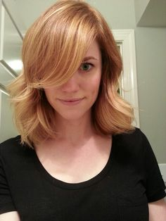 Strawberry blonde! medium length ombre. Blonde. Light red. Hair. Retro Southernpines.davines. natural red.wavy.