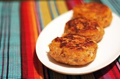 canned salmon and sweet potato cakes... I baked them instead of frying them.  It was yummy.