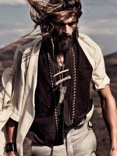 ♂ Masculine and elegance man's fashion casual wear Boho chic warrior