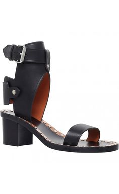 Isabel Marant Jaeryn Leather Heeled Sandals Black - Isabel Marant