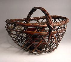 antique japanese baskets | Superb Japanese Bamboo Basket by Iizuka Rokansai  trocadero.com