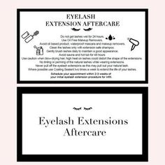 Eyelash Extensions Aftercare, For Lash, Business Names, Printed Materials, Eyelashes, Reading, How To Become, Cards, Graphics