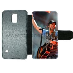 Galaxy s5 cover made by leather with card hold Design With luke bryan