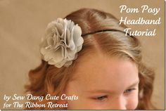 Headband tutorials - simple ideas, easy to execute, want to do these soon :)