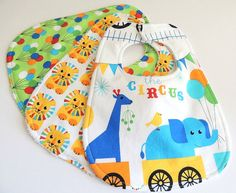 Baby Bibs  The Circus Bibs  Circus Animal by charlottechicstore