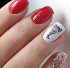 To show how gorgeous long nails can be, we have found 40 ideas that are super trendy right now. You will find glitter nails, acrylic nail, coffin and almond nails designs and more. French Manicure Nail Designs, Long Nail Designs, Almond Nails Designs, Nail Manicure, Xmas Nails, Holiday Nails, Red Nails, Christmas Nails, Glitter Nails