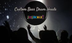 Here at Justthebiz we can customise your bass drum head with your own personal design. Custom Bass, Drum Heads, Bass Drum, Drums, Printed, Design, Percussion, Drum