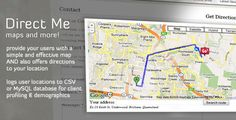 Direct Me - location map & more! . Direct Me is a very simple but effective tool for your website. It doesn't just offer the usual embedded map for website visitors with customisable logo and location description, but also allows you to provide directions to the premises for your visitors. What's more, Direct Me can also remember