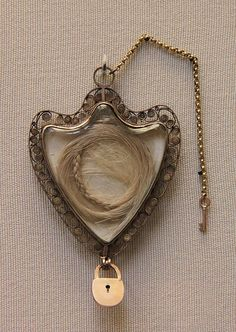 Gold locket with the hair of Queen Marie Antoinette