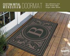 Custom Initial Monogram Welcome Mat/Doormat/Rug  by SnappyPrinting
