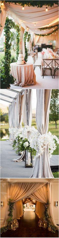 elegant outdoor wedding entrance decoration ideas_