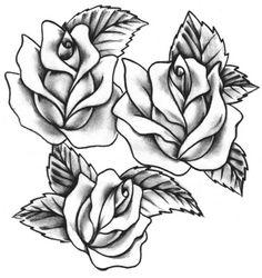 Black and white roses.