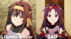 Goblin slayer and sao Eugeo Sword Art Online, Fangirl Problems, Cute Watches, Otaku Meme, Darling In The Franxx, Kirito, Manga Pictures, Marvel, Fire Emblem