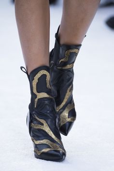 Shoes from the Louis Vuitton Cruise 2018 Fashion Show by Nicolas Ghesquière, presented at the Miho Museum near Kyoto, Japan