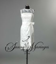 robe de mariée courte dentelle more robes de brides robe de mariee ...