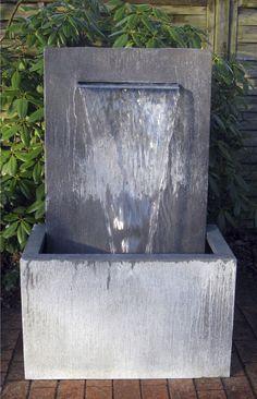 Springbrunnen / Garten / aus Zinkblech ZINK-ART WALL Slink - Ideen mit Wasser