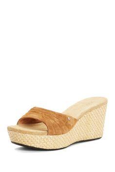 UGG Australia Alvina Wedge Mule Sandal by We Love Wedges on @HauteLook $60