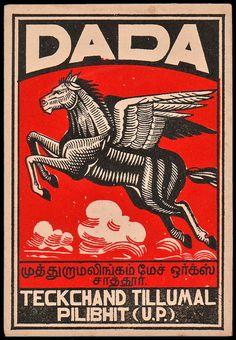 Dada Flying Horse. Matchbox design