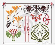 Art Nouveau Designs | Art-nouveau Design Royalty Free Stock Photos - Image: 14711078