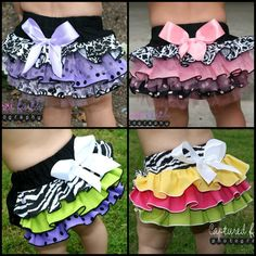CUSTOM Ruffled Bottom Bloomer/Diaper Cover 0-3mths por customcutees