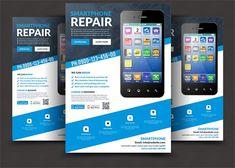 Smartphone Repair Flyer Templates @creativework247