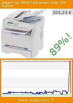 Sagem Fax 4440 Télécopieur laser 250 feuilles (Personal Computers). Réduction de 89%! Prix actuel 205,23 €, l'ancien prix était de 1.920,10 €. http://www.adquisitio.fr/sagem/fax-4440-t%C3%A9l%C3%A9copieur