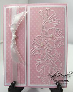 Have to remember to use my embossing powder, pretty and simple.