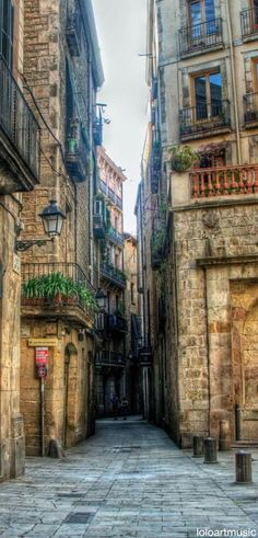 Gothic quarter, Barcelona. A labyrinth, and best EVER place to get lost.