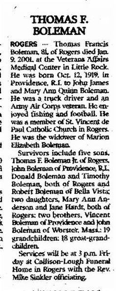 Thomas F Boleman: Page about Thomas F Boleman #people #death #cemetery #image #sysoon