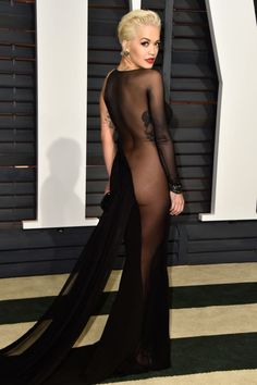 See Rita Ora's naked dress and 21 other celebs who dared to try the look.
