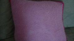 Crocheted back of Betty Boop cushion.