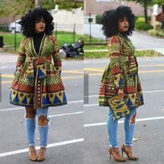 Love this coat! ~African fashion, Ankara, kitenge, African women dresses, African prints, African men's fashion, Nigerian style, Ghanaian fashion ~DKK