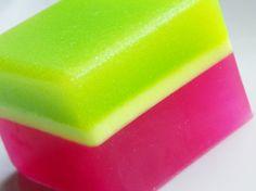 Soap  Summer Melon Sugar Scrub Soap Bar by SweetbathConfections, $6.00