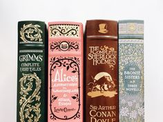 Grimm's Fairytales / Alice's Adventures in Wonderland, Lewis Carroll / The Adventures of Sherlock Holmes, Arthur Conan Doyle / The Brontë Sisters Lewis Carroll, I Love Books, Books To Read, Book Aesthetic, Old Books, Classic Books, Book Nooks, Book Photography, Book Nerd