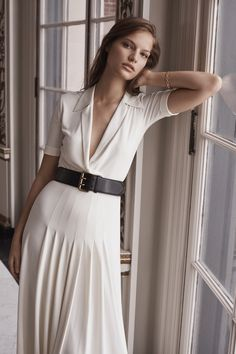 Vintage inspiration, modern ease. The Tabatha Jersey Dress from Ralph Lauren Collection. #RLIconicStyle.
