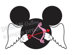 Mickey Mouse Cupid Valentine's Day image DIY Printable Iron On t shirt Transfer Instant Download