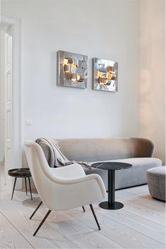 Interiorproject in Graz Austria by Lueckenfueller. Graz Austria, Layout, Küchen Design, Dining Bench, Scandinavian, Accent Chairs, Lounge, Couch, Projects