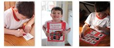 Fireman activity book printable, many other preschool printables on this blog as well