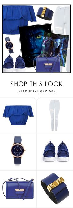 """""""Avatar movie"""" by tlb0318 ❤ liked on Polyvore featuring Miss Selfridge, Topshop, Marc Jacobs, Sam Edelman, Loewe and Hermès"""