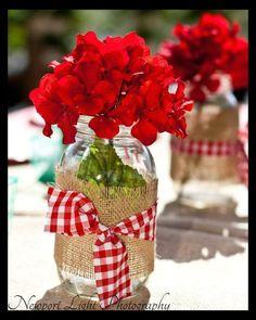 mason jars centerpieces | Faulkner's Ranch: Picnic Tips: Creative Picnic Ideas