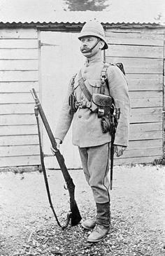 Soldier from Ballarat, Victoria 1890 Army Uniform, Military Uniforms, British Soldier, British Army, World War One, First World, Pax Britannica, Age Of Empires, Triomphe