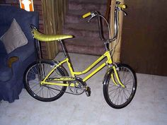 Old Schwinn Bike...we called this a banana seat bike...lol with the brakes on the handle bars