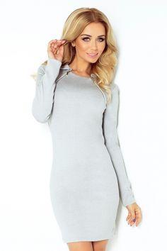 Sukienka Numoco Grey & Zip