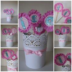 Birthday cake paper ornaments / Adornos de papel para tarta de cumpleaños