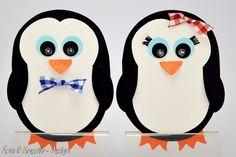 Einladungskarten - Pinguin Einladung Set 2 Stk. - ein Designerstück von Foto-und-Kreativ-Design bei DaWanda
