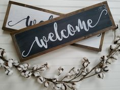 Welcome Sign - Welcome Home Sign - Wood Signs - Wooden Signs - Farmhouse Sign - Rustic Signs - Farmhouse Decor - Farmhouse Wall Decor - by packratshandmade on Etsy