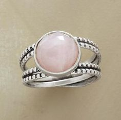 CRISSCROSS ROSE QUARTZ RING  Loooovvveee this!!!  :)